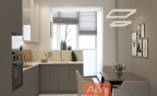 Дизайн-проект двухкомнатной квартиры ул. Мичуринский проспект