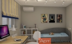 Дизайн двухкомнатной (хрущевки) квартиры (детская1)