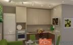 Дизайн двухкомнатной (хрущевки) квартиры (кухня1)