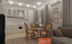 Дизайн двухкомнатной квартиры в классическом стиле