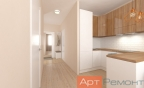 Дизайн однокомнатной квартиры 40 м2