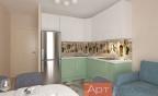 кухня мятный цвет
