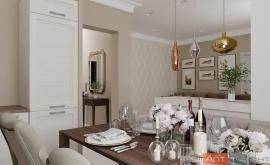 Дизайн-проект двухкомнатной квартиры ЖК Татьянин Парк