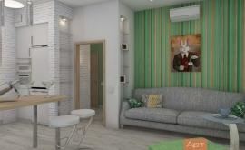 Дизайн-проект двухкомнатной квартиры в скандинавском стиле с элементами минимализма