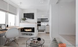 Дизайн-проект однокомнатной квартиры м. Киевская