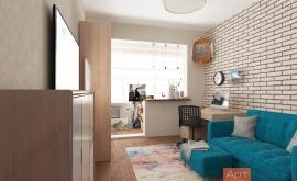 Дизайн трехкомнатной квартиры 80 м2
