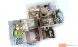 Грамотная планировка четырехкомнатной квартиры