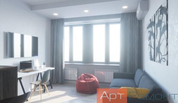 Дизайн-проект маленькой гостиной