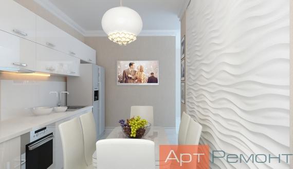 Дизайн проект трехкомнатных квартир