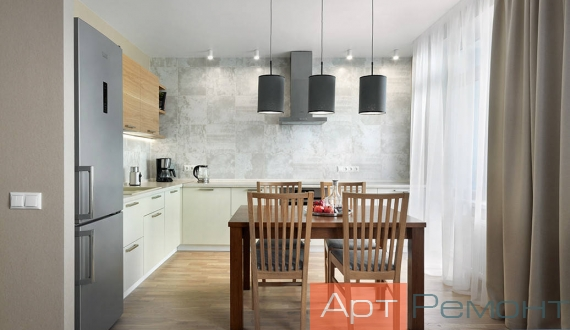 Дизайнерский ремонт четырехкомнатной квартиры