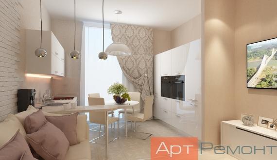 Дизайнерский ремонт однокомнатной квартиры фото 10