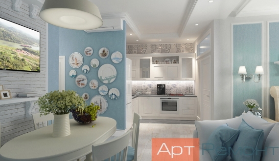 Дизайнерский ремонт однокомнатной квартиры фото 11
