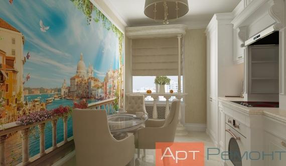 Дизайнерский ремонт однокомнатной квартиры фото 12