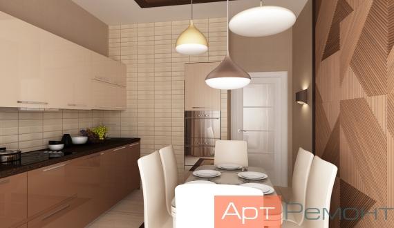 Дизайнерский ремонт однокомнатной квартиры фото 2