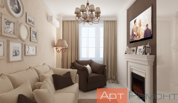 Дизайнерский ремонт однокомнатной квартиры фото 7