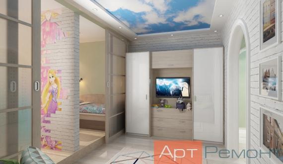 Дизайнерский ремонт однокомнатной квартиры фото 9