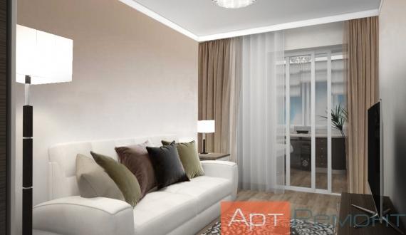 Свежий дизайн гостиной