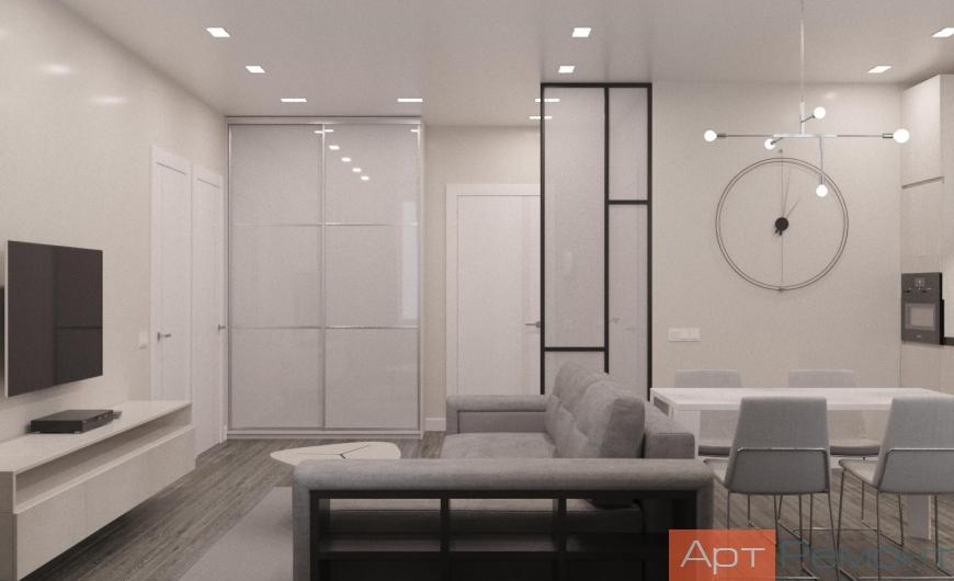 Дизайн-проект двухкомнатной квартиры м. Беломорская
