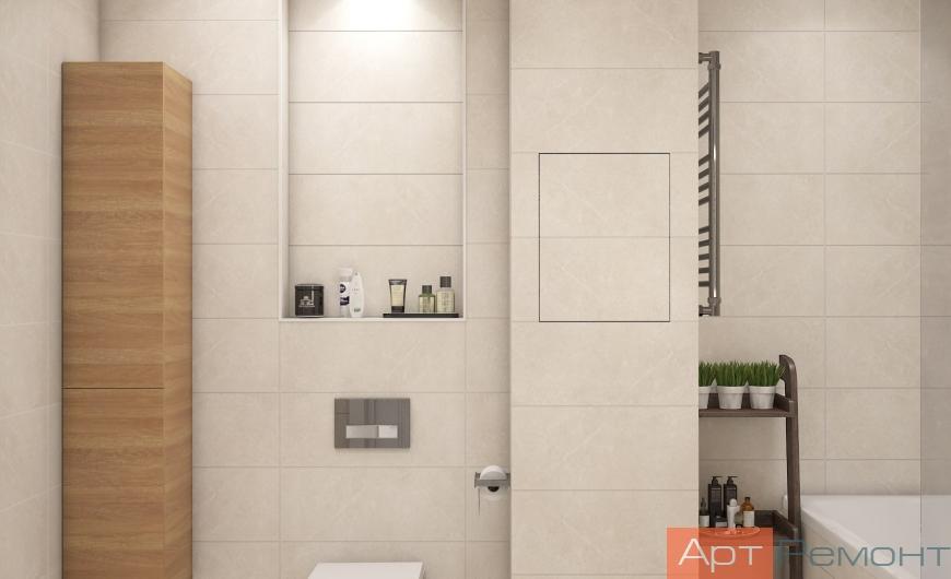 Дизайн-проект двухкомнатной квартиры м. Щелковская
