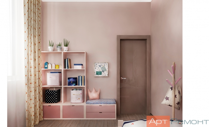 Дизайн-проект двухкомнатной квартиры м. Севастопольская