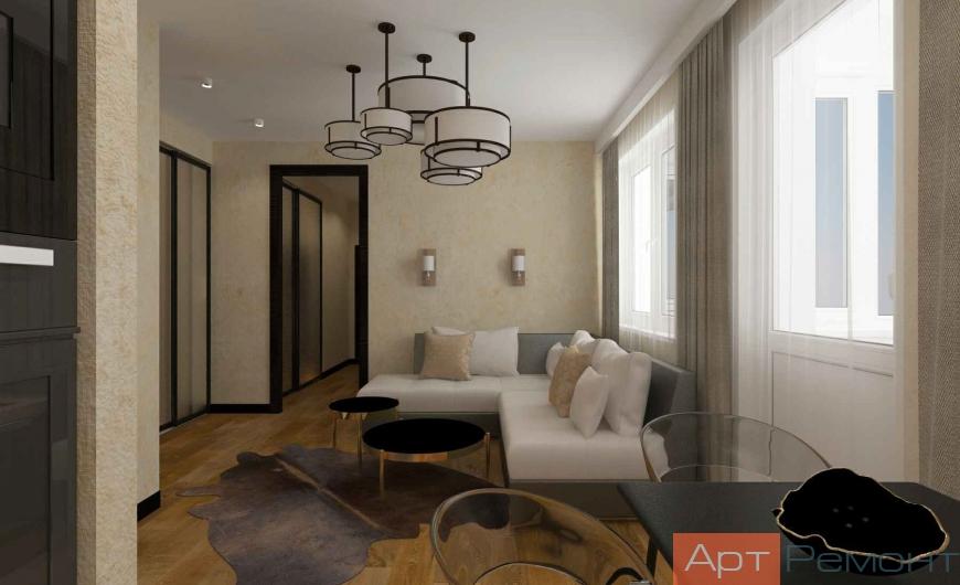 Дизайн-проект трехкомнатной квартиры г. Красногорск