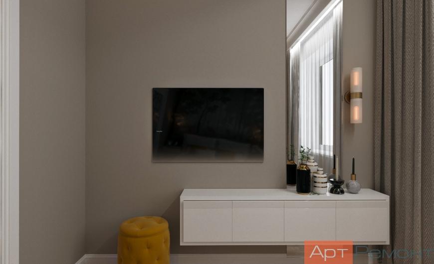 Дизайн-проект трехкомнатной квартиры м. Окружная