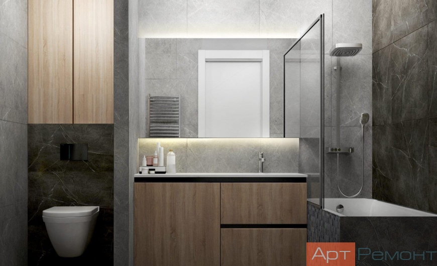 Дизайн-проект трехкомнатной квартиры м. Смоленская