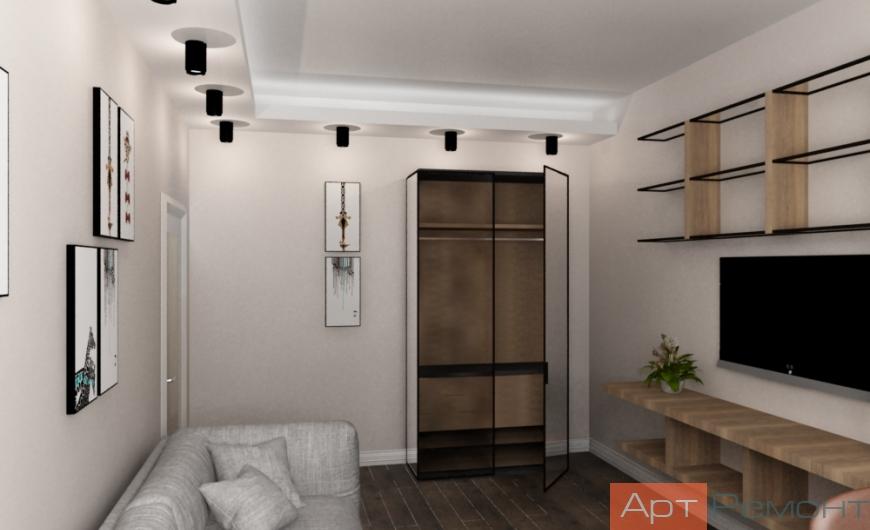 Дизайн-проект трехкомнатной квартиры м. Спортивная
