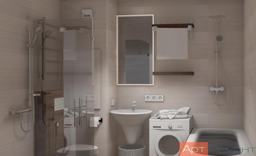 Дизайн двухкомнатной (хрущевки) квартиры (ванная комната)