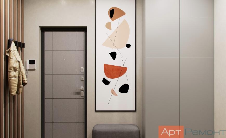 Дизайн двухкомнатной квартиры 44 м2