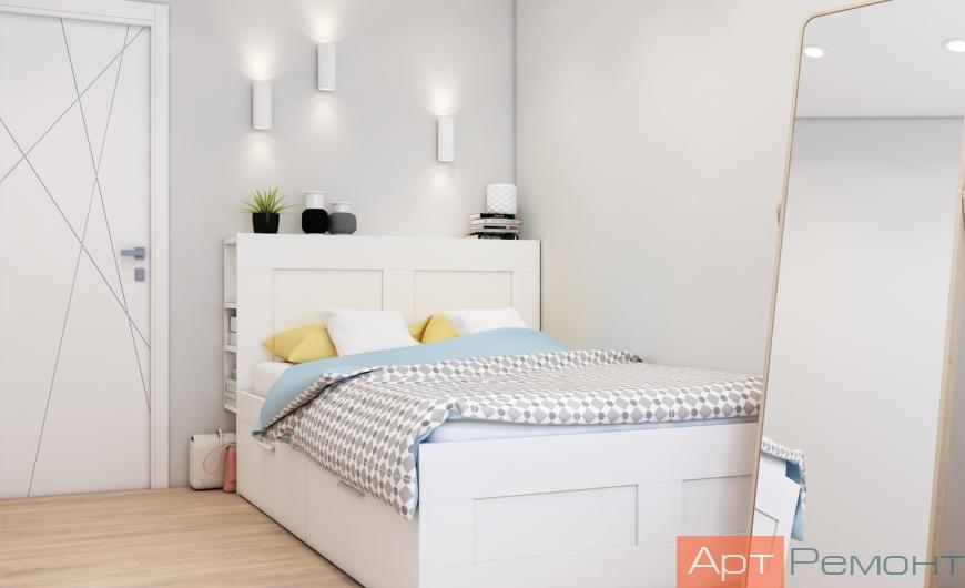 Дизайн двухкомнатной квартиры 45 м2