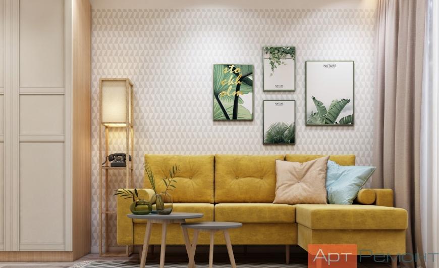 Дизайн двухкомнатной квартиры 55 м2