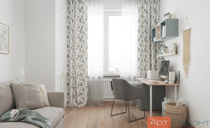 Дизайн двухкомнатной квартиры 58 м2