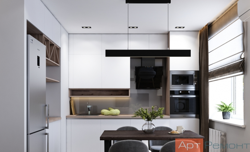 Дизайн двухкомнатной квартиры с перепланировкой1