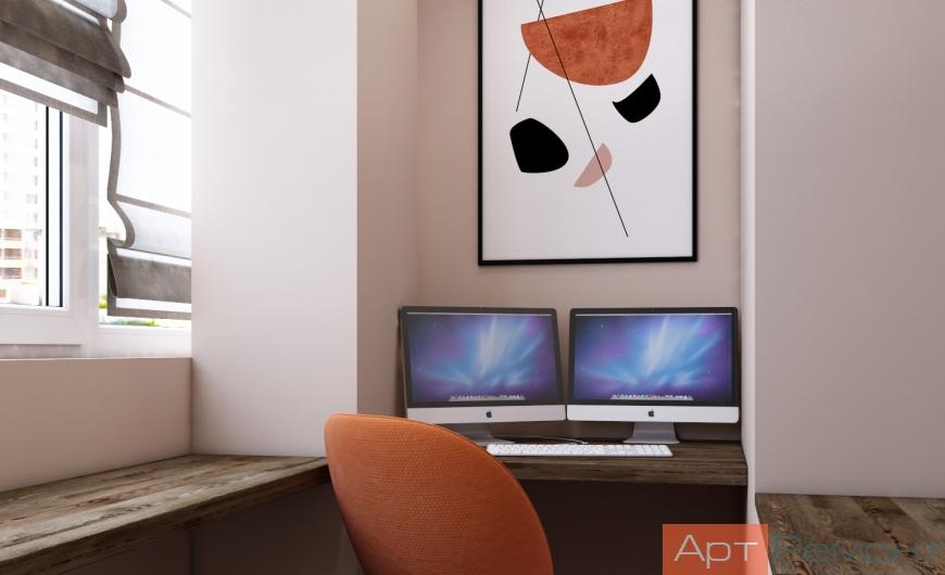 Дизайн двухкомнатной квартиры с перепланировкой7