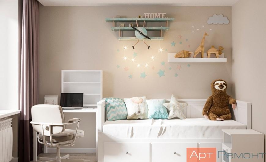 Дизайн двухкомнатной квартиры в кирпичном доме