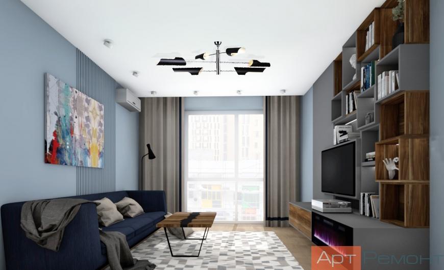Дизайн двухкомнатной квартиры в современном стиле