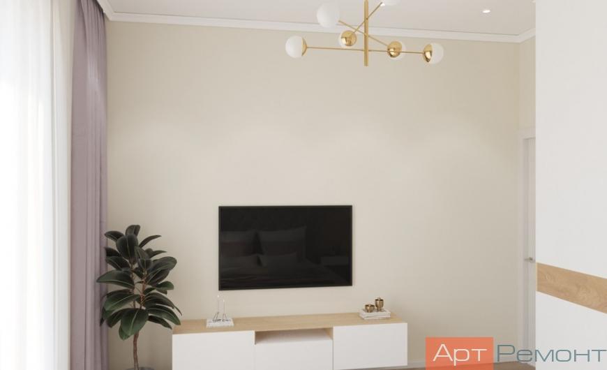 Дизайн двухкомнатной квартиры в светлых тонах