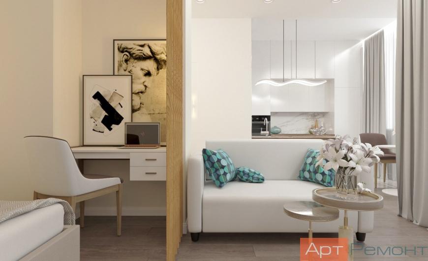 Дизайн однокомнатной квартиры в современном стиле