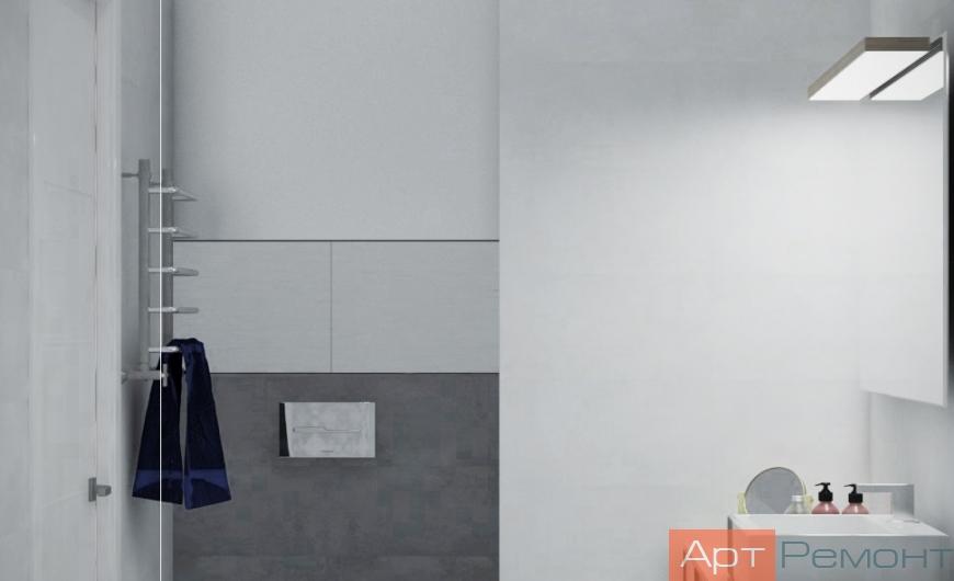 Дизайн однокомнатной квартиры в светлых тонах