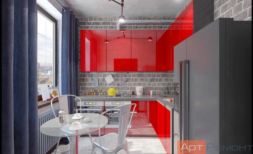 Дизайн проект двухкомнатной квартиры м. Бауманская