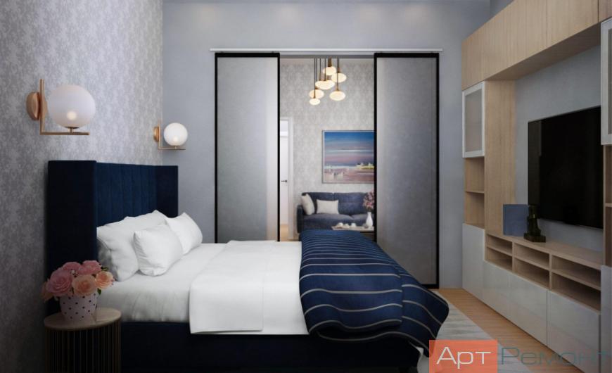 Спальня (вид от окна)